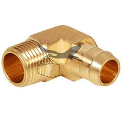 Brass Single Burb Male Elbow
